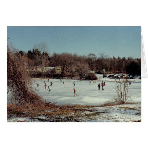 Frozen Pond Greeting Cards