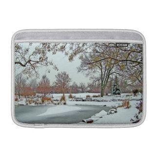 Frozen Pond MacBook Air Sleeves