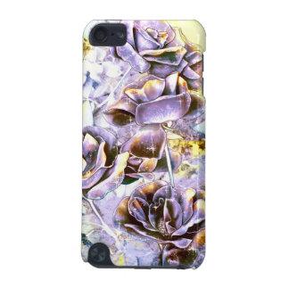 Frozen purple rose flowers in winter iPod touch (5th generation) case
