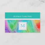 Frozen Rainbow : Monogram Business Card