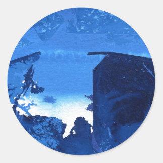 """""""Frozen Ridge #3"""" Abstract Design Sticker"""