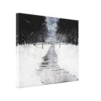 frozen river canvas print