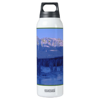 Frozen River Snowy Mountains Banff Alberta SIGG Thermo 0.5L Insulated Bottle