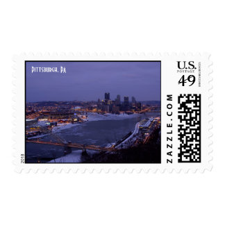 Frozen Rivers in Pittsburgh, PA Postage