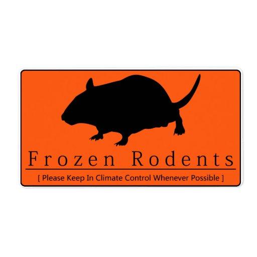 Frozen Rodents - Orange Label