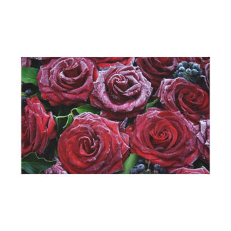 Frozen Roses Gallery Wrapped Canvas
