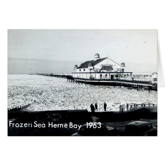Frozen Sea at Herne Bay - Kent -1963 Card