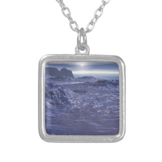 Frozen Sea of Neptune Silver Plated Necklace