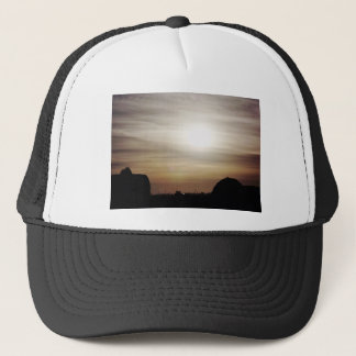 Frozen sky trucker hat