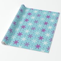 Frozen Snowflakes Holiday Gift Wrap