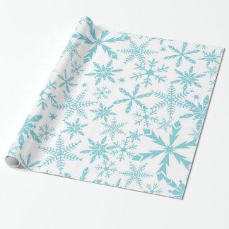 Frozen Snowflakes Holiday Gift Wrap / Blue White