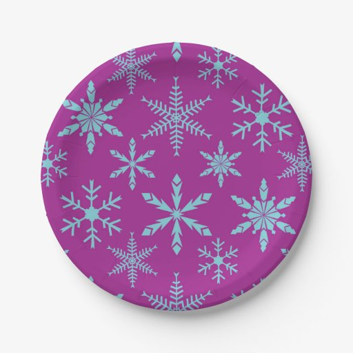 Frozen Snowflakes Holiday Paper Plates Zazzle  sc 1 st  Castrophotos : holiday paper plates - Pezcame.Com