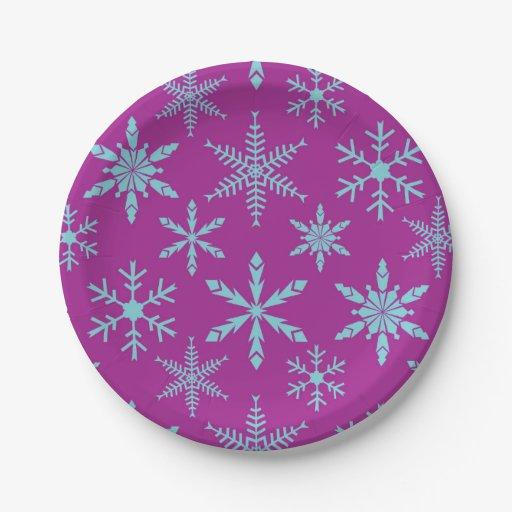 Frozen Snowflakes Holiday Paper Plates Zazzle  sc 1 st  Castrophotos & Frozen Paper Plates And Napkins - Castrophotos