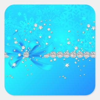 Frozen Snowflakes Square Stickers
