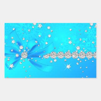Frozen Snowflakes Rectangular Sticker