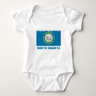 Frozen South Dakota Flag Baby Bodysuit