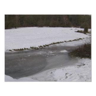 Frozen stream in New Forest Card