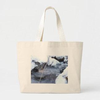 Frozen Stream Jumbo Tote Bag
