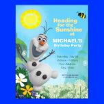 "Frozen Summer Olaf Birthday Invitation 4.25"" X 5.5"" Invitation Card"