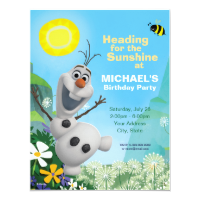 Frozen Summer Olaf Birthday Invitation Personalized Announcement