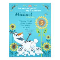 Frozen Summer Olaf Birthday Party Invitation