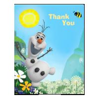 Frozen Summer Olaf Thank You Custom Invitations