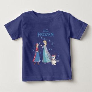 Frozen | Sven, Anna, Elsa & Olaf Blue Pastels Baby T-Shirt