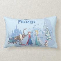 Frozen | Sven, Anna, Elsa & Olaf Blue Pastels Lumbar Pillow