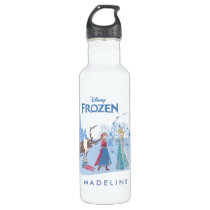 Frozen | Sven, Anna, Elsa & Olaf Blue Pastels Stainless Steel Water Bottle