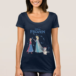 Frozen   Sven, Anna, Elsa & Olaf Blue Pastels T-Shirt