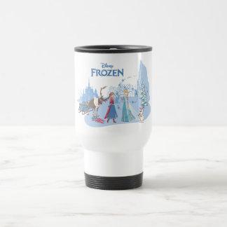 Frozen | Sven, Anna, Elsa & Olaf Blue Pastels Travel Mug