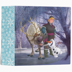 Frozen's Kristoff with Olaf the Snowman and Sven the Reindeer Avery Signature 1