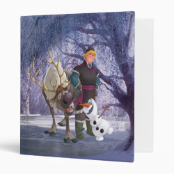 Avery Signature 1' Binder with Frozen's Kristoff with Olaf the Snowman and Sven the Reindeer design
