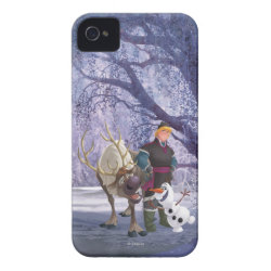 Frozen's Kristoff with Olaf the Snowman and Sven the Reindeer Case-Mate iPhone 4 Barely There Universal Case