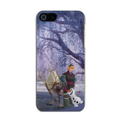 Frozen's Kristoff with Olaf the Snowman and Sven the Reindeer Incipio Feather Shine iPhone 5/5s Case