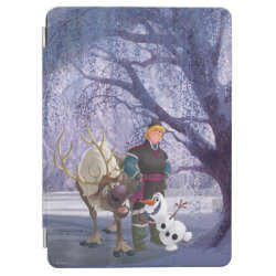 iPad Air Cover with Frozen's Kristoff with Olaf the Snowman and Sven the Reindeer design