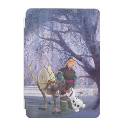 Frozen's Kristoff with Olaf the Snowman and Sven the Reindeer iPad mini Cover
