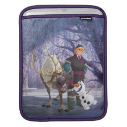 iPad Sleeve with Frozen's Kristoff with Olaf the Snowman and Sven the Reindeer design
