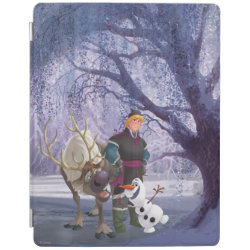 iPad 2/3/4 Cover with Frozen's Kristoff with Olaf the Snowman and Sven the Reindeer design
