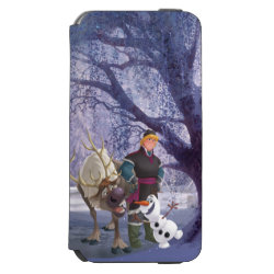 Incipio Watson™ iPhone 6 Wallet Case with Frozen's Kristoff with Olaf the Snowman and Sven the Reindeer design