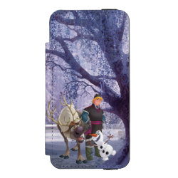 Incipio Watson™ iPhone 5/5s Wallet Case with Frozen's Kristoff with Olaf the Snowman and Sven the Reindeer design