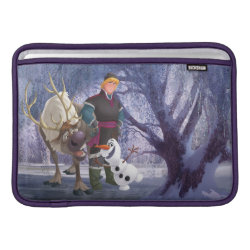 Frozen's Kristoff with Olaf the Snowman and Sven the Reindeer Macbook Air Sleeve