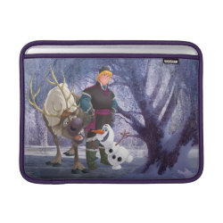 Macbook Air Sleeve with Frozen's Kristoff with Olaf the Snowman and Sven the Reindeer design