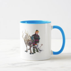 Combo Mug with Frozen's Kristoff with Olaf the Snowman and Sven the Reindeer design