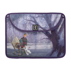 Macbook Pro 13' Flap Sleeve with Frozen's Kristoff with Olaf the Snowman and Sven the Reindeer design