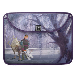 Amethyst Macbook Pro Sleeve with Frozen's Kristoff with Olaf the Snowman and Sven the Reindeer design