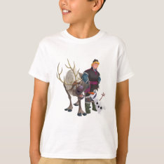 Frozen | Sven, Olaf And Kristoff T-shirt at Zazzle