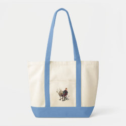 Frozen's Kristoff with Olaf the Snowman and Sven the Reindeer Impulse Tote Bag