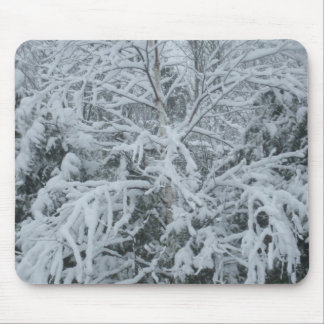 Frozen Tree Branches Mouse Pad