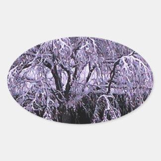 Frozen tree sticker